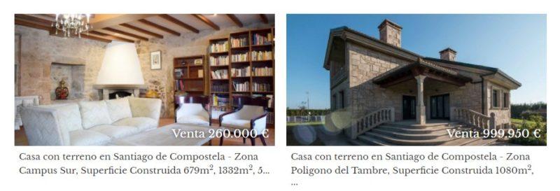 Inmobiliaria en Santiago de Compostela con casas cerca de la ciudad