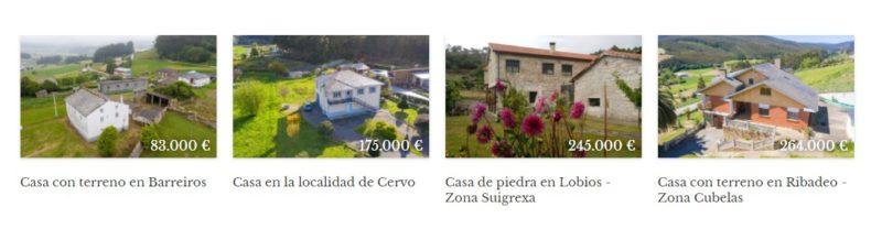 Vender, alquilar y comprar casas en Galicia
