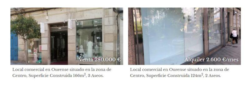 Vender, alquilar y comprar locales comerciales en Galicia