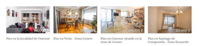 Vender, alquilar y comprar pisos en Galicia